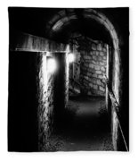 Altered Image Of The Catacomb Tunnels In Paris France Fleece Blanket