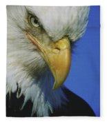 American Bald Eagle Haliaeetus Fleece Blanket