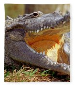 American Crocodile Fleece Blanket