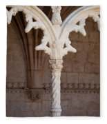Architectural Details Of Jeronimos Monastery In Lisbon Fleece Blanket