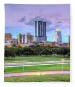 Austin At Twilight Fleece Blanket
