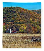 Autumn Farm Fleece Blanket
