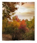 Autumn Hues Fleece Blanket