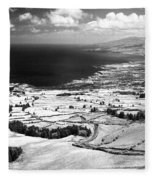 Azores Coastal Landscape Fleece Blanket