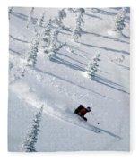 Backcountry Ski Traverse In Glacier Fleece Blanket