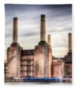 Battersea Power Station London Fleece Blanket