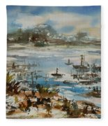 Bay Scene Fleece Blanket
