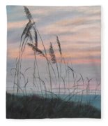 Beach Morning View Fleece Blanket