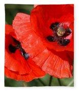 Beautiful Poppies 2 Fleece Blanket