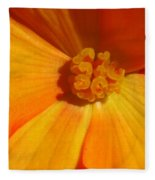 Begonia Named Nonstop Apricot Fleece Blanket