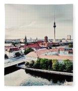 Berlin Germany View On Major Landmarks Fleece Blanket