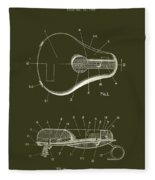 Bicycle And Motorcycle Seat 1925 Patent Fleece Blanket