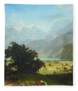 Bierstadt's Lake Lucerne Fleece Blanket