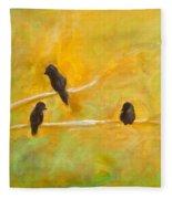 3 Birds Fleece Blanket