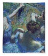 Blue Dancers Fleece Blanket