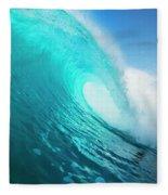Blue Ocean Wave Fleece Blanket