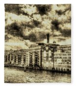 Butlers Wharf London Vintage Fleece Blanket