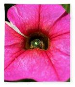 Calibrachoa Named Colorburst Rose Fleece Blanket