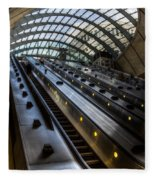 Canary Wharf Station Fleece Blanket