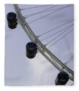 3 Capsules Of The Singapore Flyer Along With The Spokes And Base Fleece Blanket