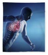 Cardiovascular Exercise Fleece Blanket