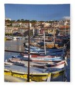 Cassis Boats Fleece Blanket