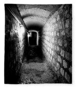 Catacomb Tunnels In Paris France Fleece Blanket
