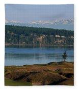 Chambers Bay Golf Course - University Place - Washington Fleece Blanket