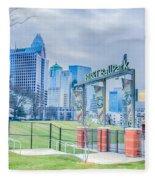 Charlotte Ballpark Fleece Blanket