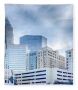 Charlotte Downtown  Fleece Blanket