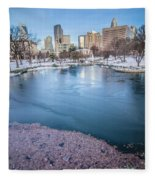 Charlotte North Carolina Marshall Park In Winter Fleece Blanket