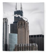 Chicago Architecture Fleece Blanket