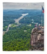 Chimney Rock At Lake Lure Fleece Blanket