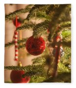 Christmas Tree Ornaments Fleece Blanket