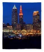 Cleveland Panorama Fleece Blanket