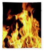 Close-up Of Fire Flames Fleece Blanket