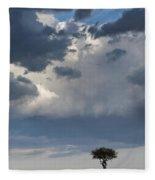 Clouds Over Maasai Mara, Kenya Fleece Blanket