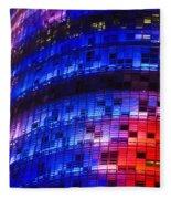 Colorful Elevation Of Modern Building Fleece Blanket