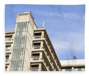 Concrete Building Fleece Blanket