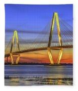 Cooper River Bridge Fleece Blanket