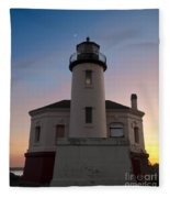 Coquille River Lighthouse Fleece Blanket