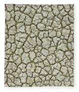 Cracked Dry Clay Fleece Blanket