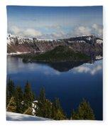 Crater Lake - Oregon Fleece Blanket