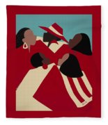 Crimson And Cream Fleece Blanket