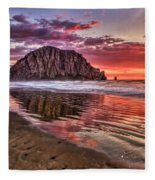 Crimson Sunset Fleece Blanket