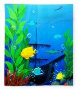 3-d Aquarium Fleece Blanket