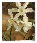 3 Daffodils Fleece Blanket