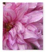 Dahlia Named Annette C Fleece Blanket