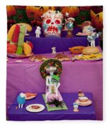 Day Of The Dead Remembrance, Mexico Fleece Blanket