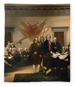 Declaration Of Independence Fleece Blanket